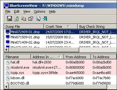 http://www.nirsoft.net/utils/blue_screen_view.html