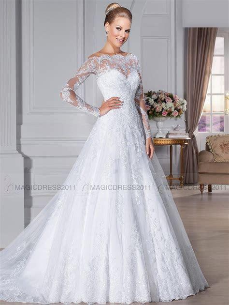 Discount 2019 Elegant Bateau Wedding Dresses Overskirts