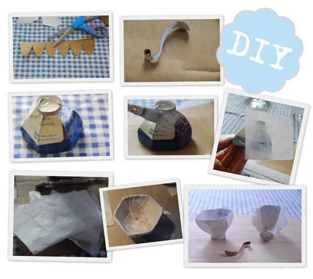 Paper Mache Teacups, Wedding Decor, DIY, Printable, Tutorial (2)