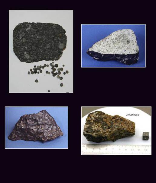 different meteorites