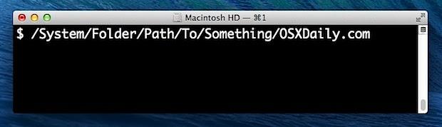 File or folder path in Mac OS X