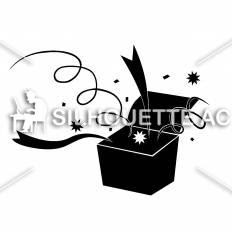 ビックリ箱シルエット イラストの無料ダウンロードサイトシルエットac