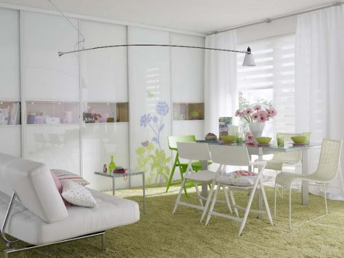 Combined Dining Room And Living Room - Modern Home Life Furnishings