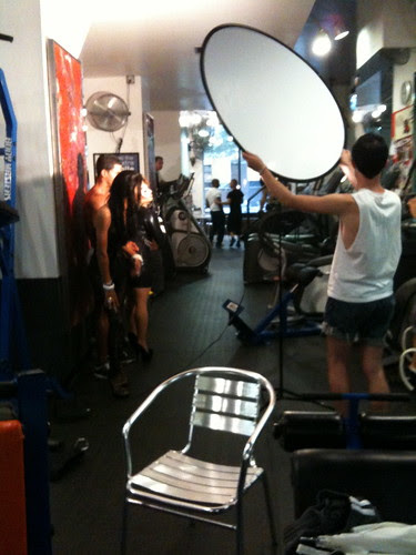 Filming at Steel Gym