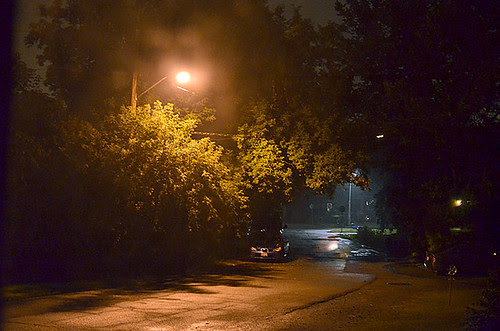 nightfall on our street