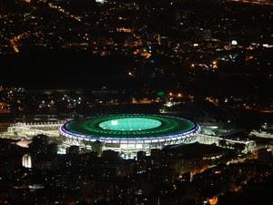 Maracanã iluminado após reforma (Foto: Marcos Estrella/TV Globo)