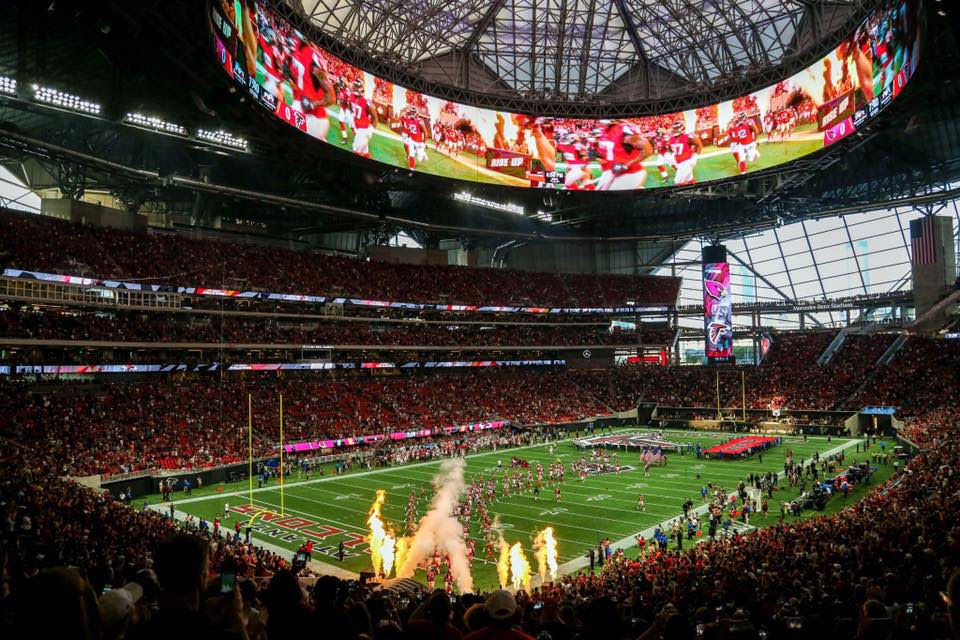 Mercedes-Benz Stadium Roof to be Open on Sunday - Football ...