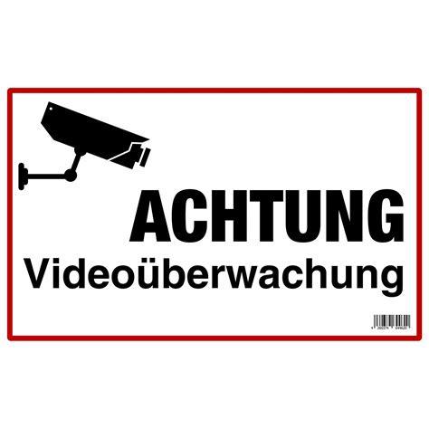 schild achtung videoueberwachung  cm   cm kaufen bei obi