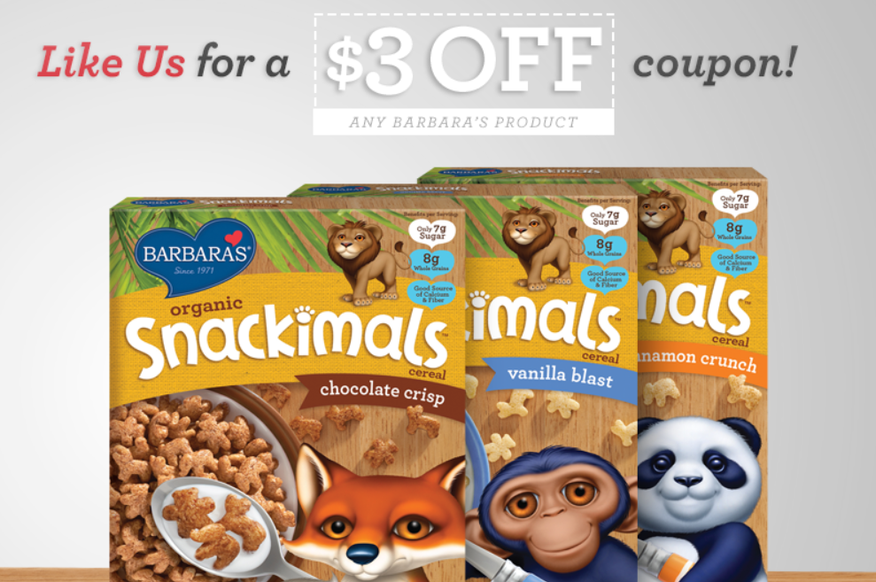 Barbara's cereal coupon facebook free at kroger