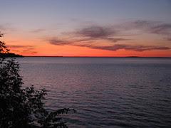 Sunset over Leech Lake