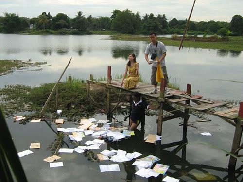 Prepping the pond scene for Carmen Soo 3