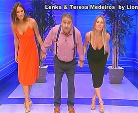 Leka e Teresa Medeiros sensuais no Preço Certo