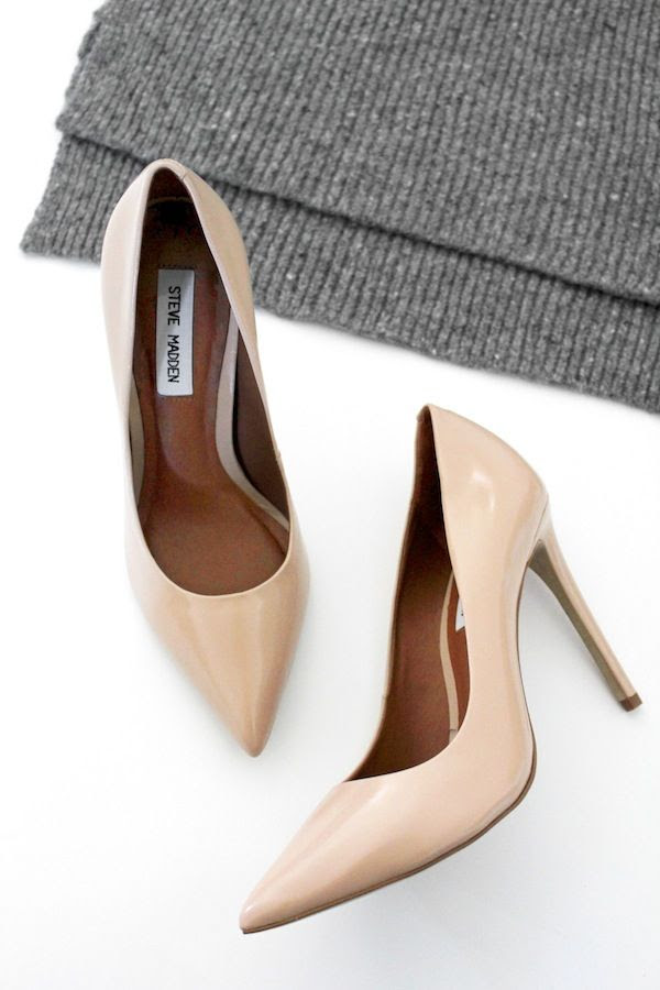 Le Fashion Blog Neutral Fall Style Nude Heels Blush Pumps Steve Madden Proto Pump