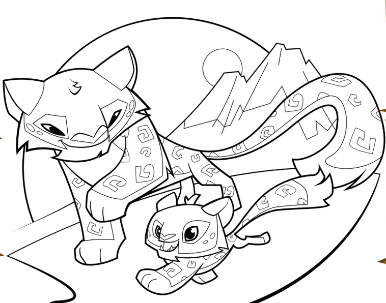 Snow Leopard Coloring Pages at GetColorings.com | Free ...
