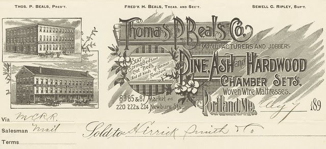 business invoice header - ornate typography design + architectural engraving