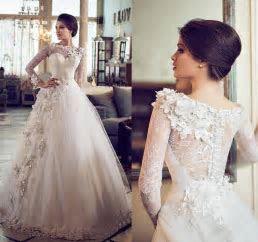 Discount 2016 Designer Arabic Dubai Lace Wedding Dresses