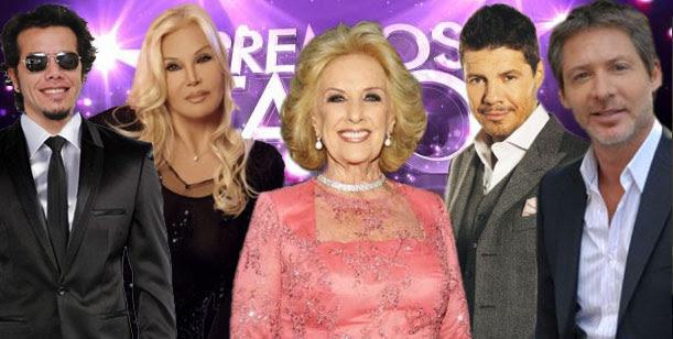 Mirtha, Ortega, Suar, Tinelli y Susana, invitados de lujo en los premios Tato