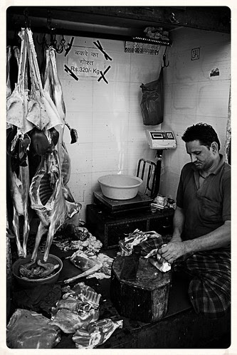 The Butcher At Work.. The Dead Goat Gives A Smirk,, Oh What A Jerk by firoze shakir photographerno1
