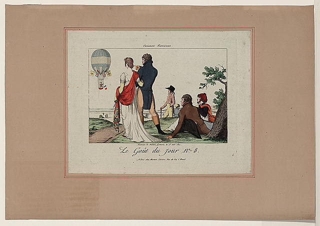 Ascension de Madame Garnerin, le 28 mars 1802