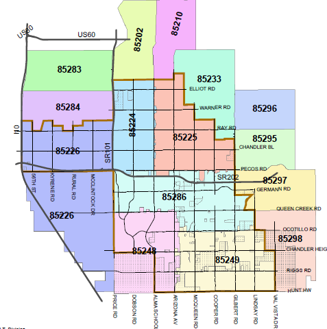 Map Of Tucson Arizona Zip Codes.Zip Code Map Tempe World Map