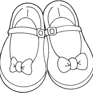 Coloring Sheet Shoes Coloring Pages
