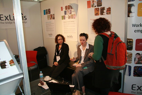 Jenny Paradiso on the Ex Libris stand