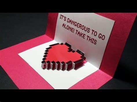 Zelda Pop Up: Valentine's Day Heart Card (With Zelda Music