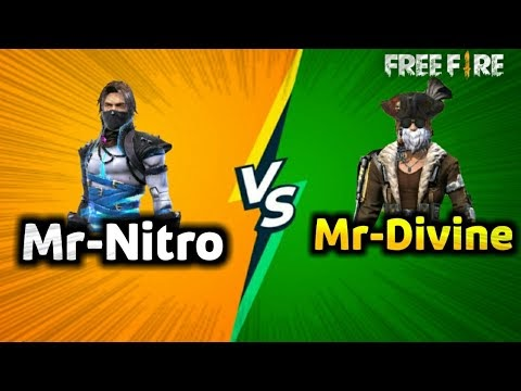 Mr-Nitro VS Mr-Divine 1vs1 Class Squad Free fire|| Best 1vs1 Fight in Free Fire