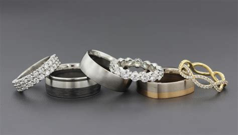wedding band metals  mix   match  engagement ring