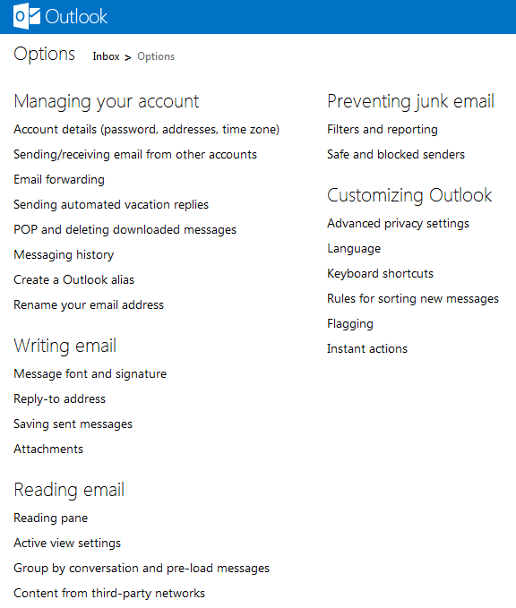New Hotmail's setting on Outdated Penang Uncle blogspot dot com