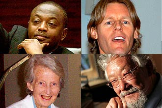 "René Ngongo, Alyn Ware, Catherine Hamlin e David Suzuki, que ganharam o Right Livelihood Award, considerado ""Nobel alternativo"""