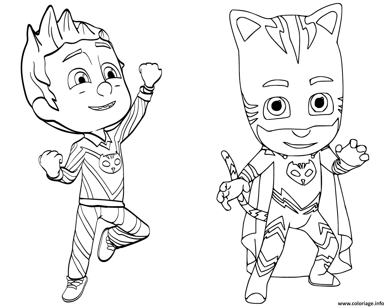 Coloriage Pajama Hero Connor Est Yoyo De Pyjamasques Jecoloriecom