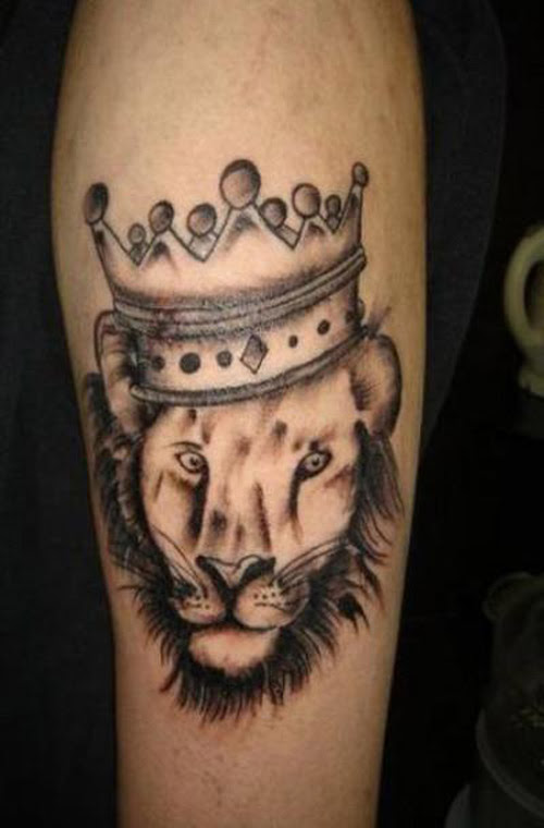 Crown And Lion Tattoo