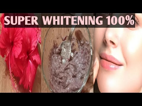 INSTANT skin WHITENING Hibiscus Face Pack |Easy 100% natural homemade