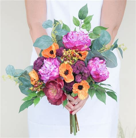 Fuchsia Natural Touch Roses and Gerbera Daisies Bouquet in