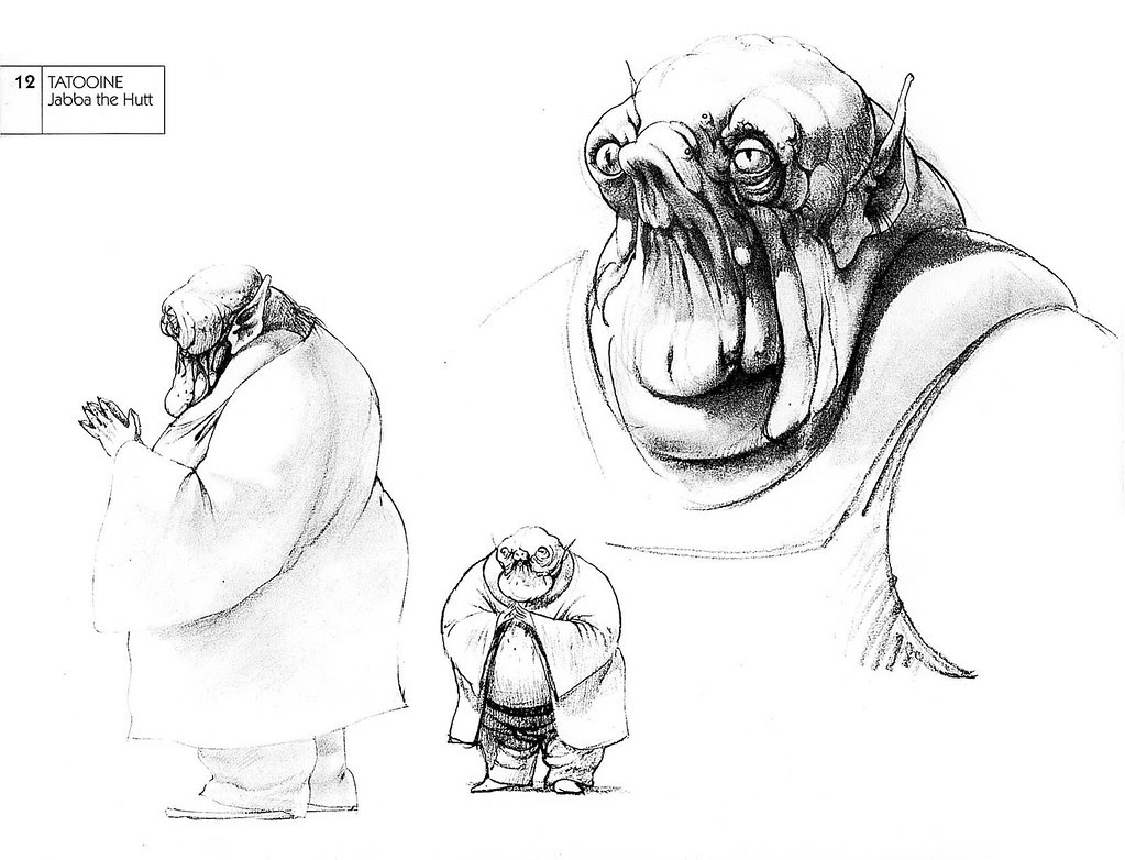 Ralph Mcquarrie - Jabba the Hutt Sketches 2