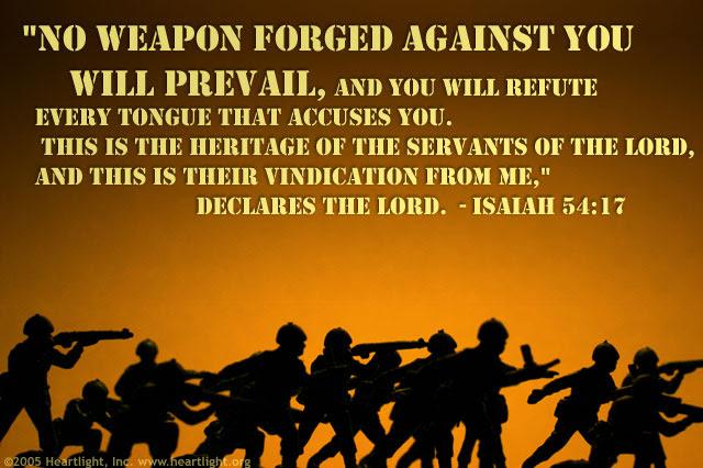 Inspirational illustration of Isaiah 54:17