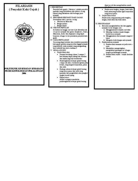 leaflet filariasis kaki gajahdoc