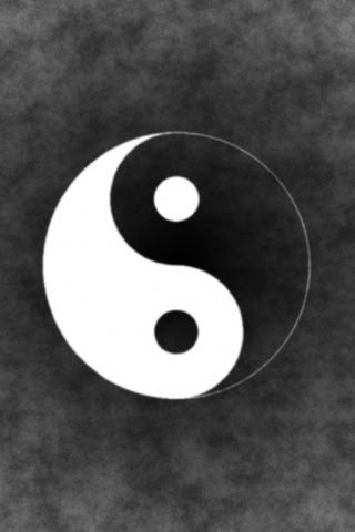 320x480 Yin Yang Iphone wallpaper