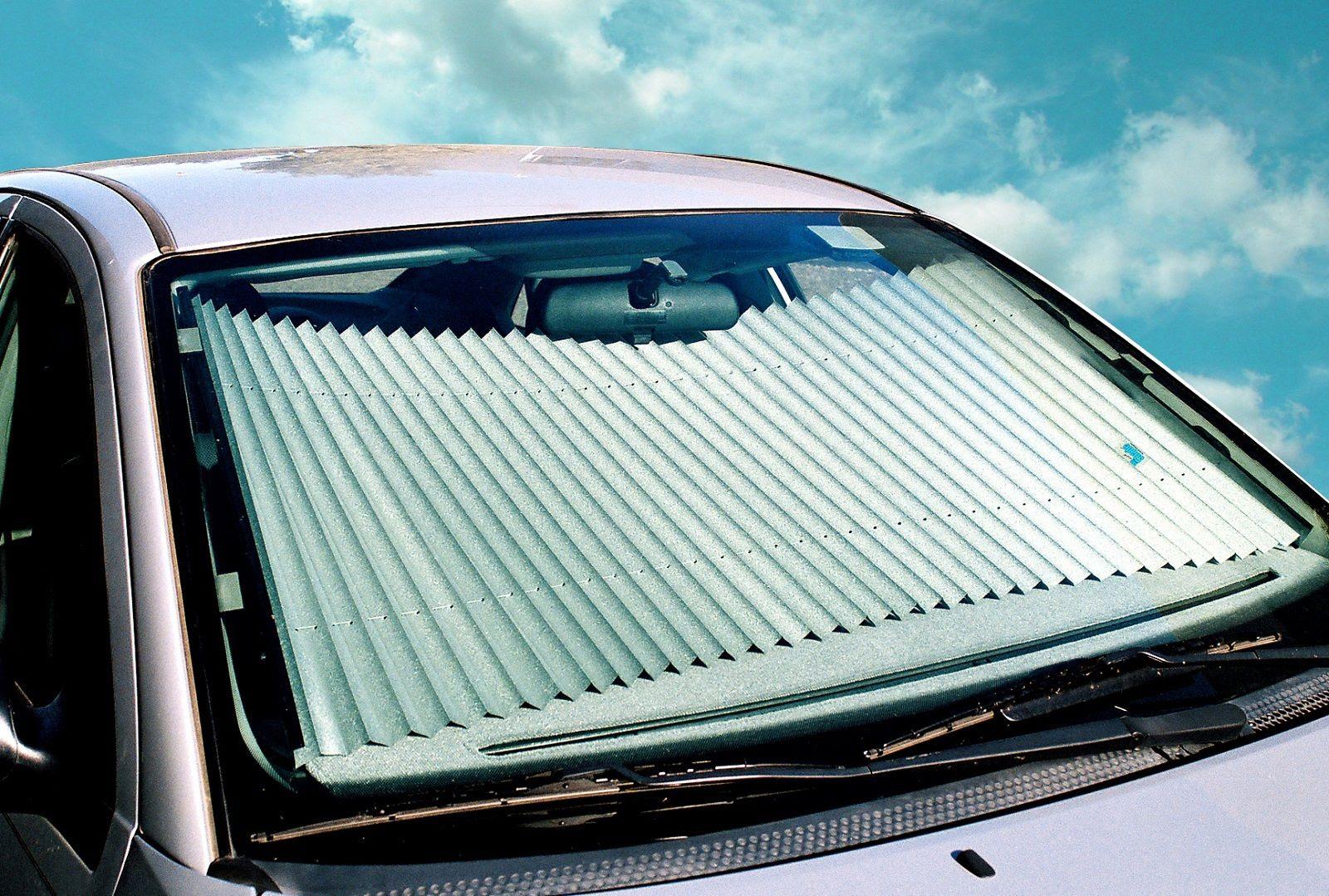 The Shade Retractable Windshield Sunshade Fits 2010-2013 KIA SOUL