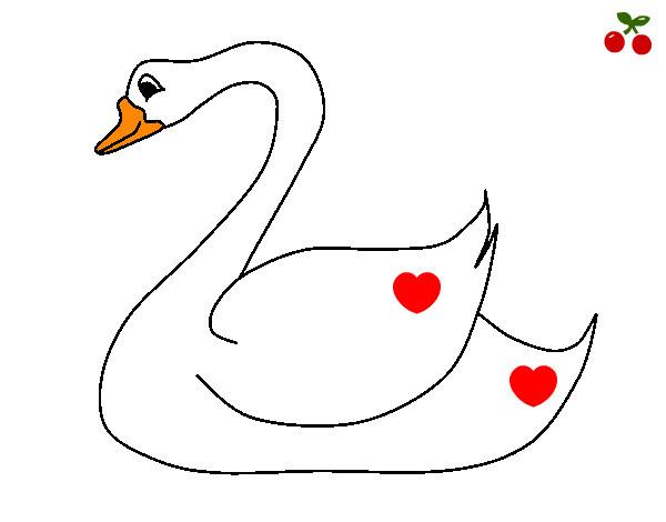 Dibujo De El Cisne Del Amor Pintado Por Marta3333 En Dibujosnet El