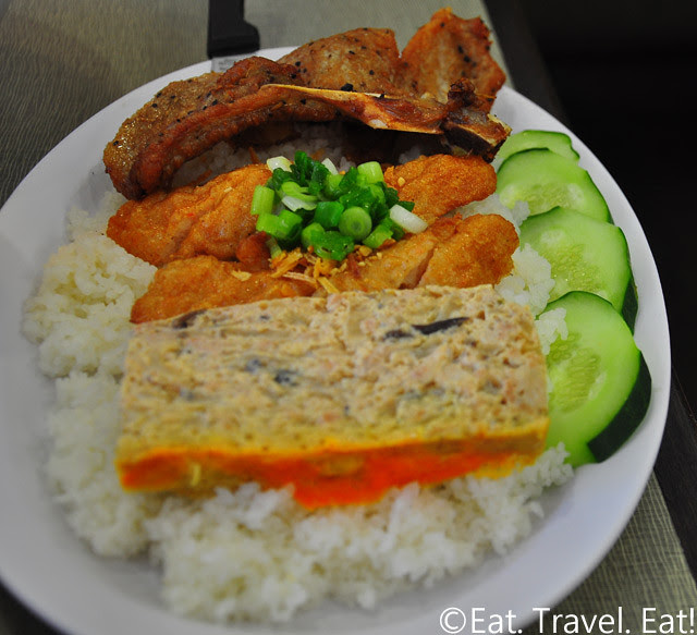 Golden Deli- Temple City, CA: Com Tam (w/ Shrimp Paste and Pork Chop and Baked Egg)
