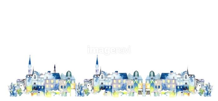 西洋の街並夜ループの画像素材32350308 イラスト素材なら