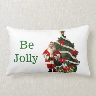 Be Jolly Santa Claus Christmas Lumbar Pillow