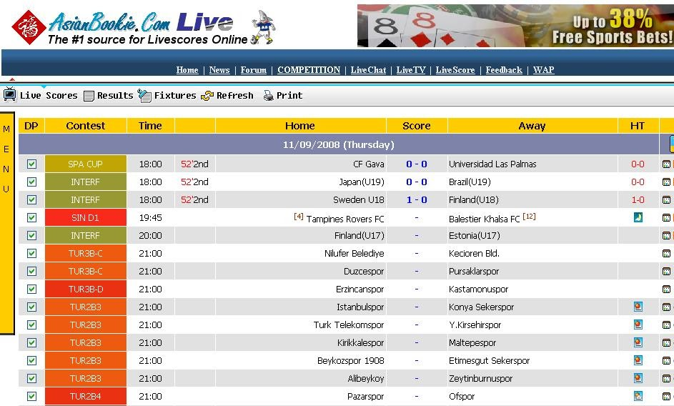 Agen Bola Sonic Asian Bookie Live Rating