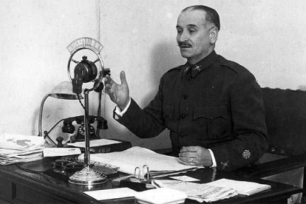 Alocución radiofónica de Queipo de Llano en Unión Radio Sevilla