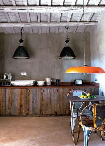 Une cuisine à l'ambiance récup'