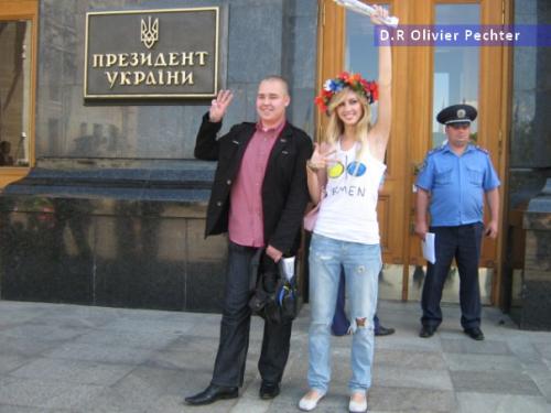 FEMEN Svoboda y de lado a lado