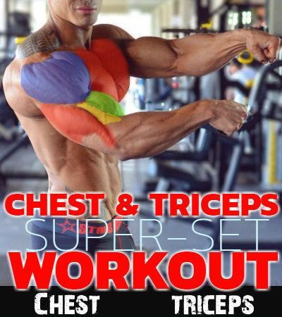 Chest and triceps superset workout