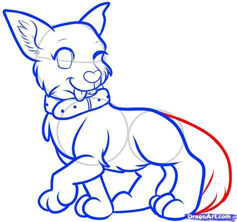 step    draw  anime dog anime dog